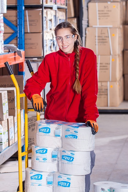 young female worker
